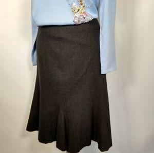Ralph Lauren wool/cashmere fluted skirt 10